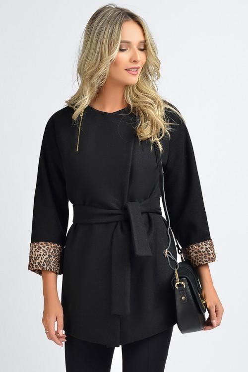 Jacheta neagra cu cordon...
