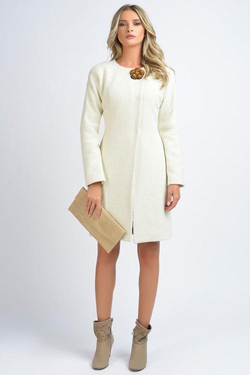 Palton elegant cu accesoriu