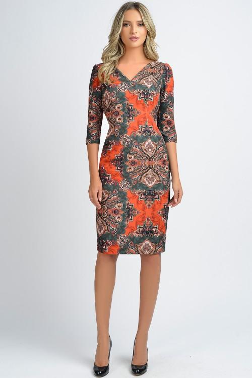 Rochie de zi multicolora