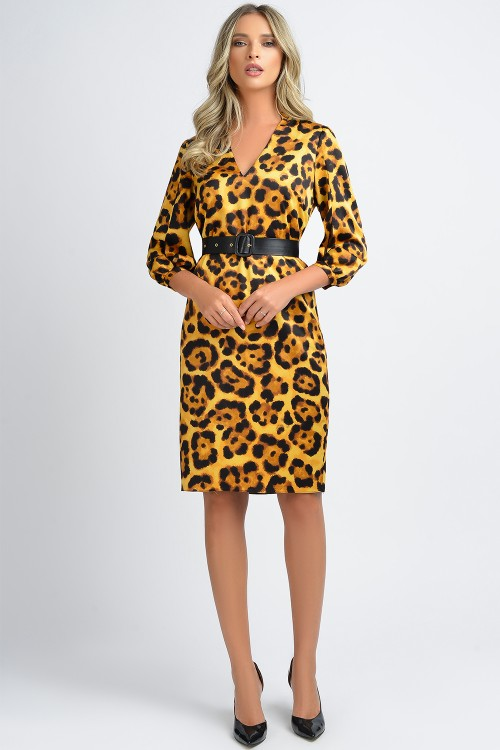 Rochie cu imprimeu animal...
